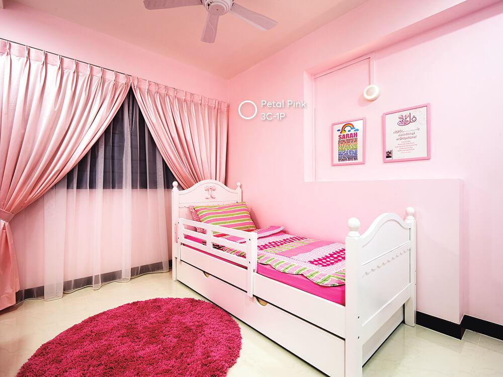 phòng trẻ em màu hồng