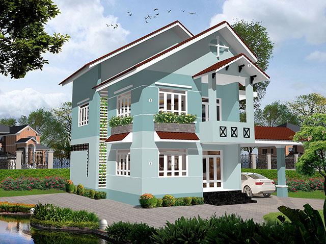 Cách phối màu sơn biệt thự theo hướng nhà