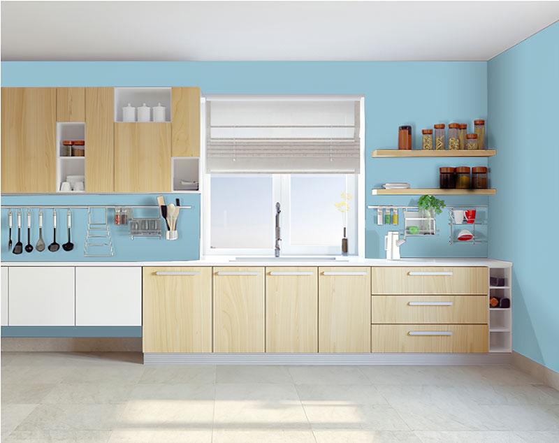 Chọn màu sơn phòng bếp theo phong thủy mệnh thủy