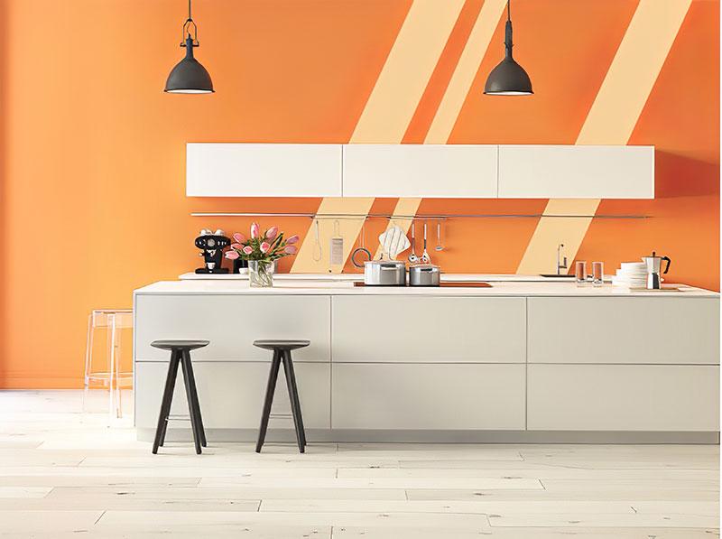 Chọn màu sơn phòng bếp theo phong thủy mệnh Hỏa