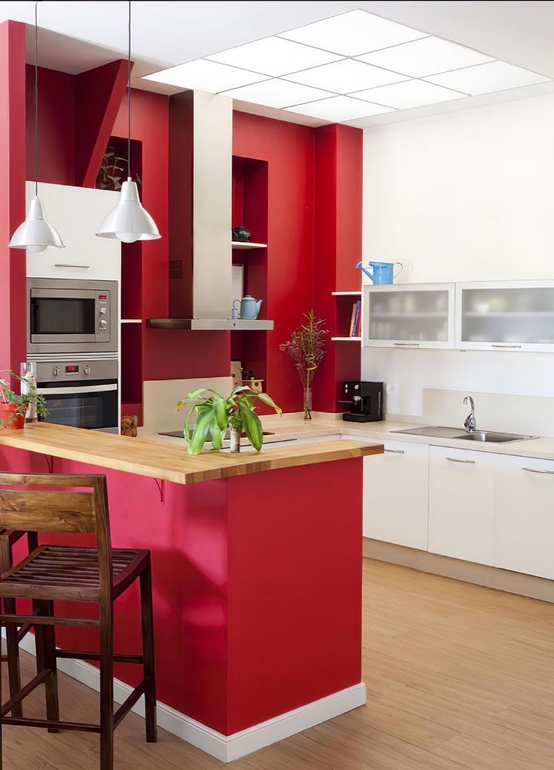 Chọn màu sơn phòng bếp theo phong thủy mệnh Thổ