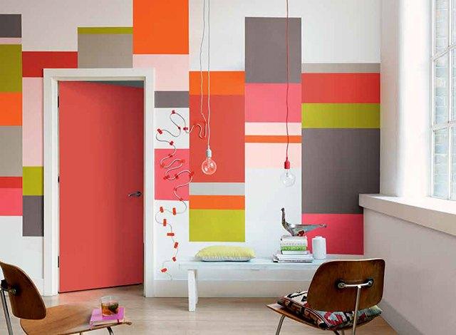 hướng dẫn sơn tường kẻ sọc 14