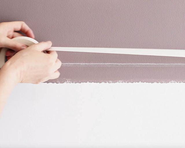 hướng dẫn sơn tường kẻ sọc 8