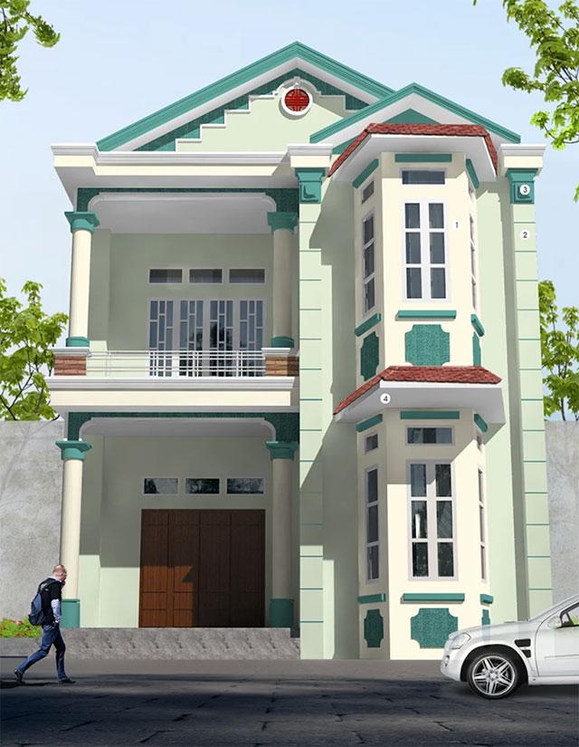 Mẫu sơn mặt tiền nhà phố đẹp - Ảnh 6