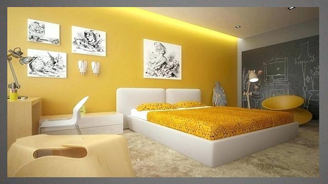 sơn nội thất màu vàng 13