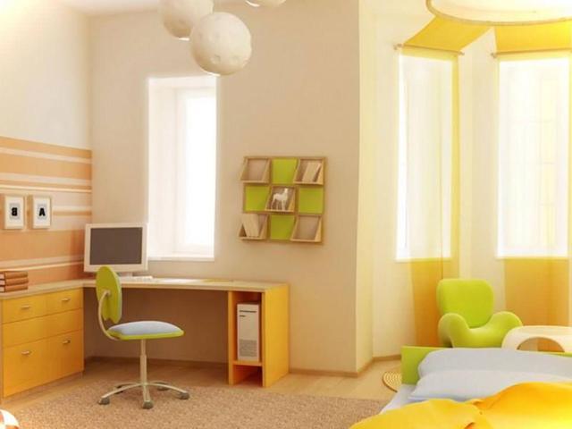 sơn nội thất màu vàng 19