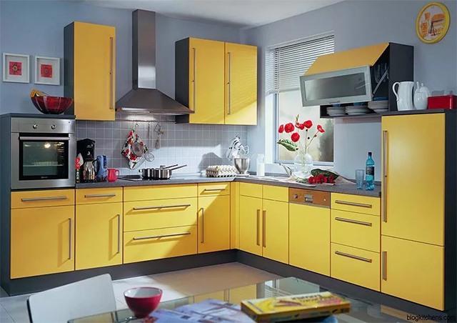 sơn nội thất màu vàng 2