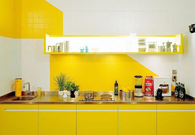 sơn nội thất màu vàng 26