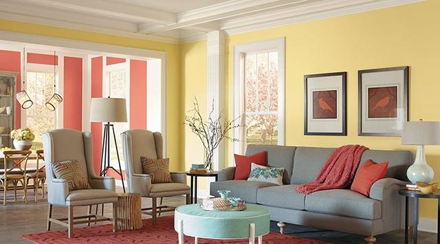 sơn nội thất màu vàng 33
