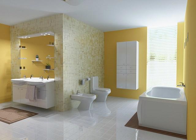 sơn nội thất màu vàng 7