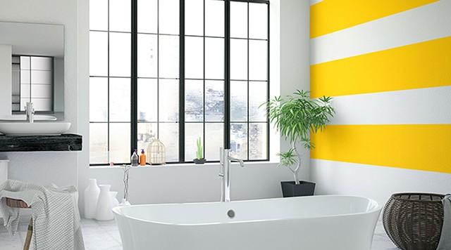 sơn nội thất màu vàng 8