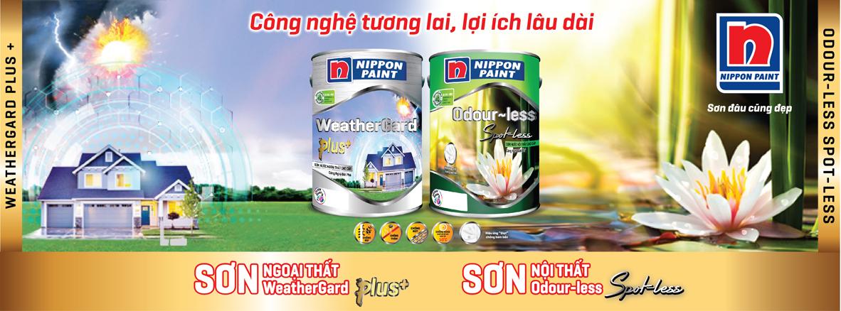 sơn Nippon WeatherGard Plus Odour-less Spot-less cao cấp mới